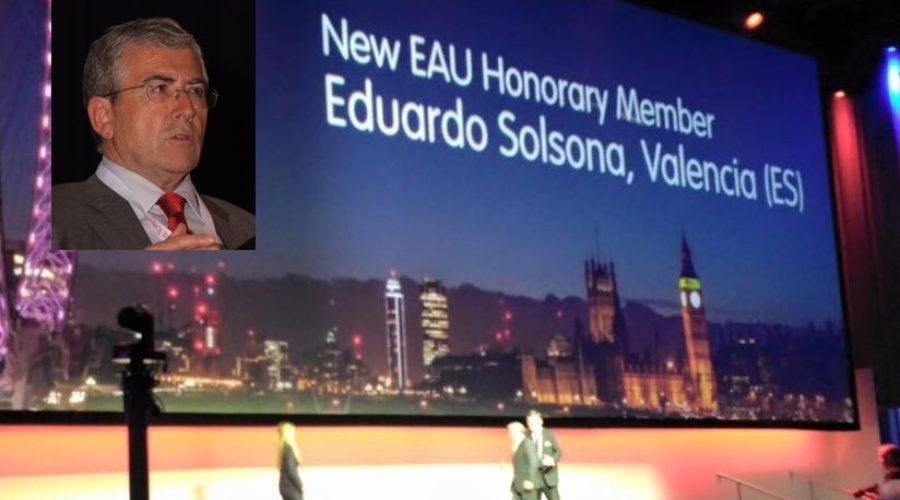El Dr. Eduardo Solsona miembro honorario de la Asociación Europea de Urología